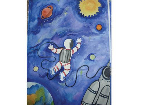 Как нарисовать космос поэтапно  Цветы жизни