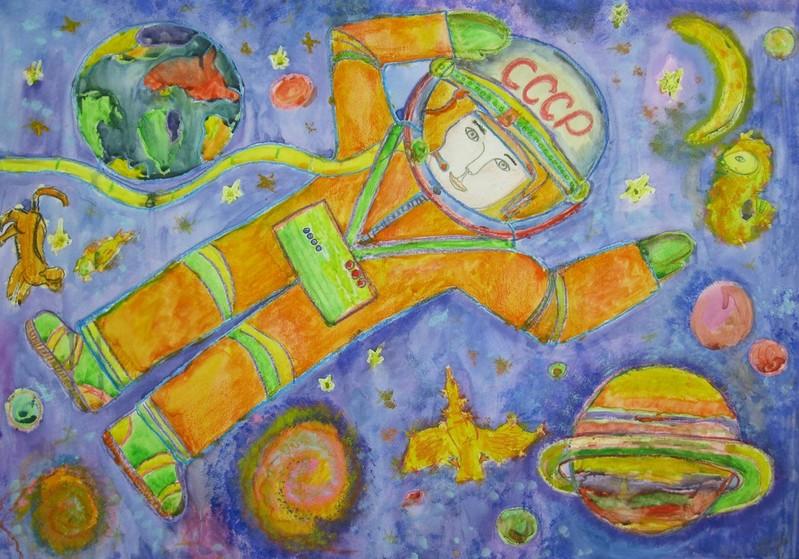 Конкурс детского рисунка день космонавтики