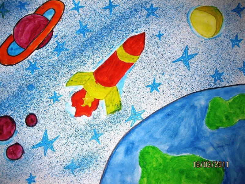 класса тему 3 космоса на рисунки