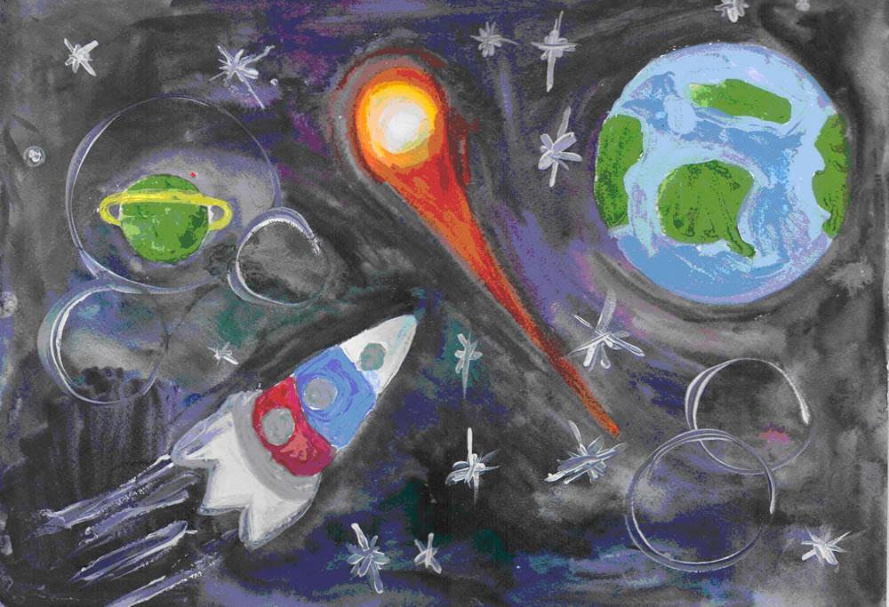 Космос рисунки своими руками